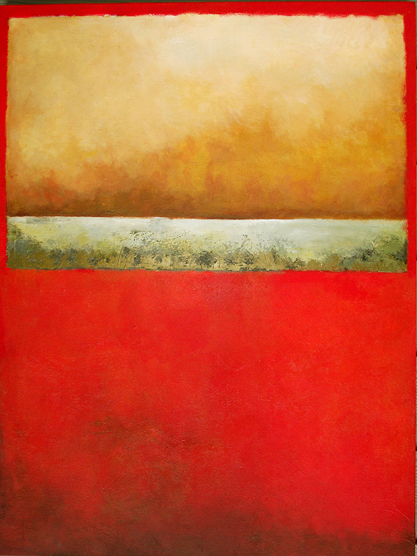 #142 40 x 30 acrylic/canvas color field paintings