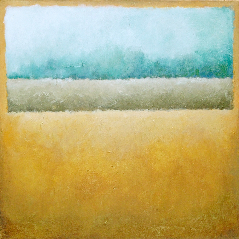 #144 20 x 20 acrylic/canvas color field paintings