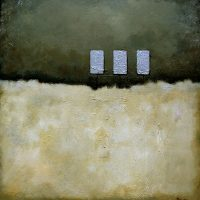 #145 20 x 20 acrylic/canvas color field paintings