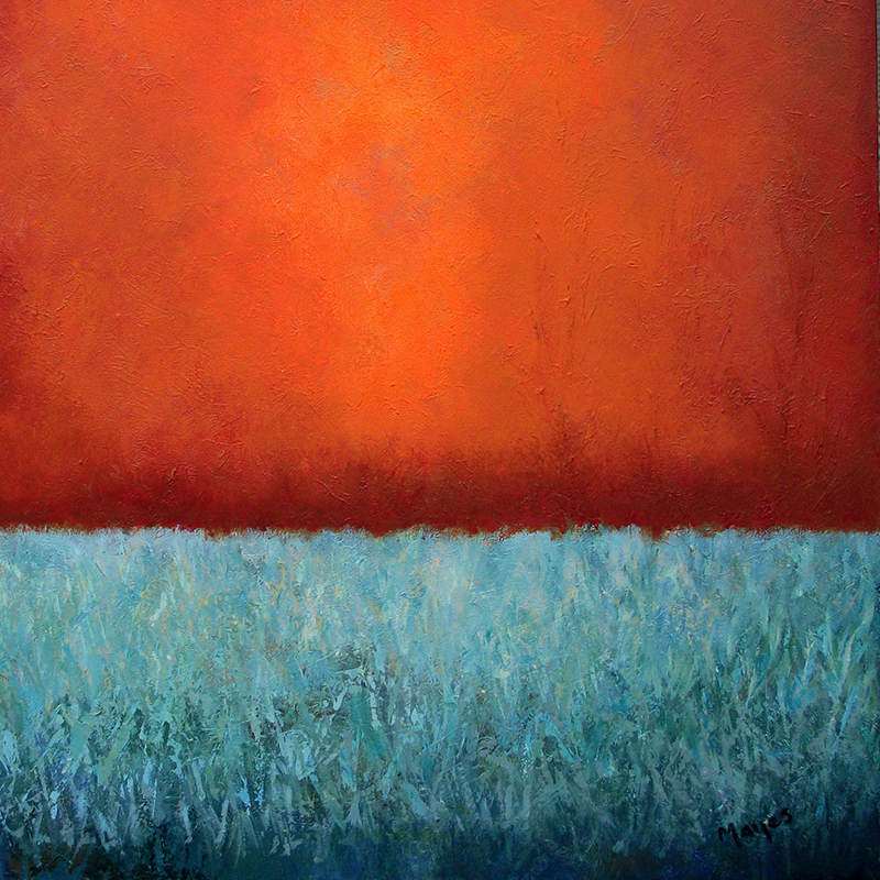 #152 30 x 30 acrylic/canvas color field paintings