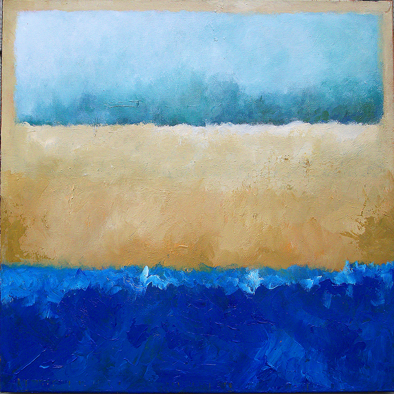 #153 20 x 20 acrylic/canvas color field paintings