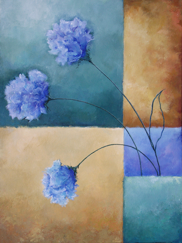 #154 40 x 30 acrylic/canvas color field paintings